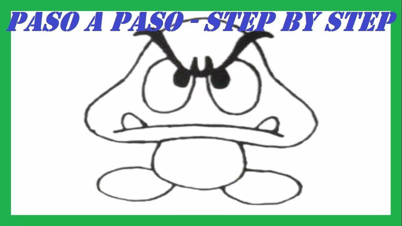 Como dibujar a Goomba de Super Mario Bros l How to draw Goomba from ...