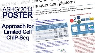 Approach for Limited Cell ChIP-Seq - ASHG 2014 Poster