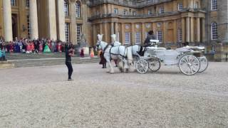 Xclusive Services Dhol alongside Bagpiper for bride and groom wedding entrance at Blenheim Palace