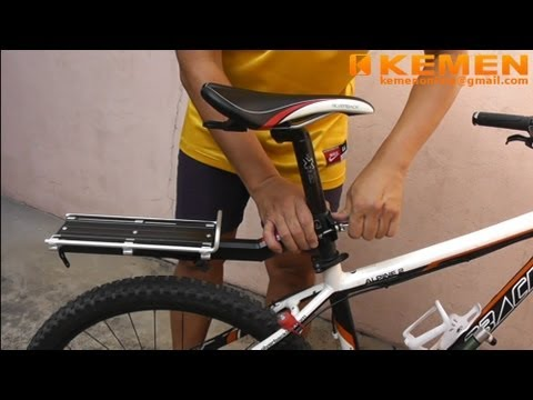 Bicycle Rear Rack With Quick Release Youtube