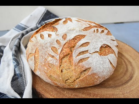 Spelt and rye sourdough bread