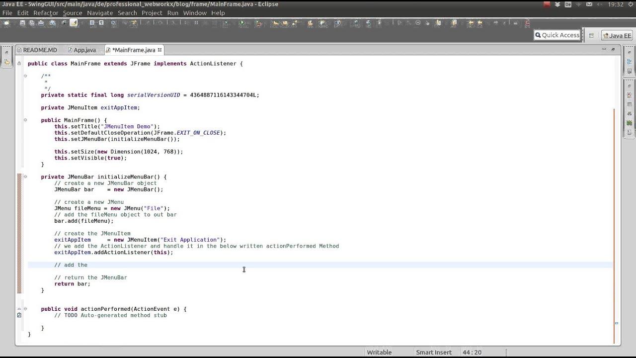 Java swing tutorial jmenuitem add a accelerator key youtube java swing tutorial jmenuitem add a accelerator key baditri Gallery