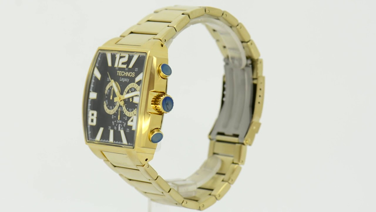 1b2181c69e Relógio Technos Masculino Legacy JS25AR 1D - Eclock - YouTube