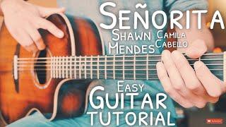 Señorita Shawn Mendes Camila Cabello Guitar Tutorial // Señorita Guitar // Lesson #694