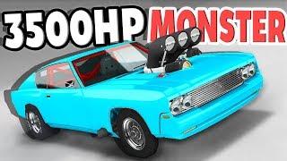 BIGGEST DRAG ENGINE EVER?! 3500HP FUNNY CAR DRAG! - BeamNG Drive Big Block Barstow Car Mod