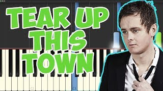 Tear Up This Town -Keane (Piano Tutorial Synthesia)