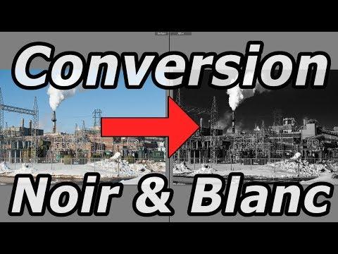 Comment faire une conversion noir et blanc avec Lightroom