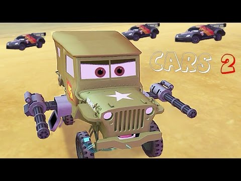 Cars 2 - Gameplay Race Canyon Run with Sarge and [Aston Martin] Nigel Gearsley - CARS 2