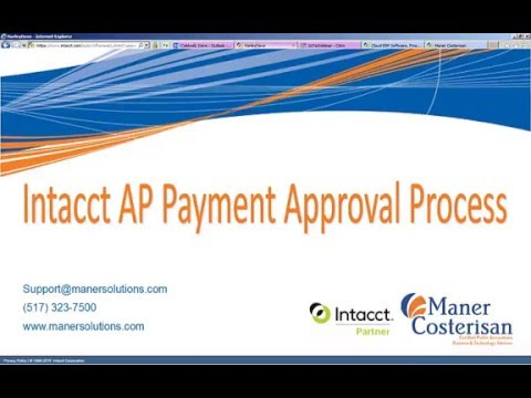 Intacct Payable Approval Process