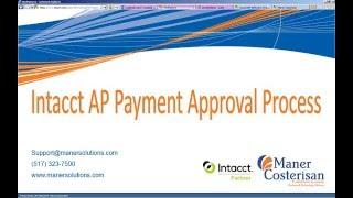 Intacct Payable Approval Process