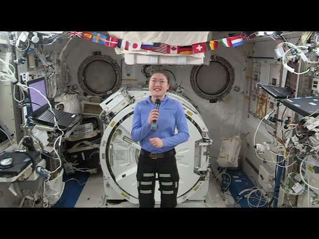 Astronauts Koch and Meir React to International Space Station Mission Updates