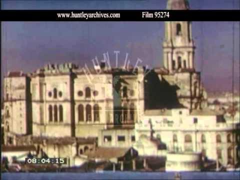 Malaga Spain, 1950s - Film 95274