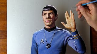 Drawing Leonard Nimoy as Mr. Spock 🖖