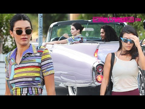 Kendall Jenner Takes Her Vintage Cadillac Out For A Spin With Kourtney Kardashian & Luka Sabbat thumbnail