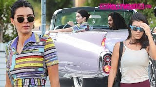 Kendall Jenner Takes Her Vintage Cadillac Out For A Spin With Kourtney Kardashian & Luka Sabbat