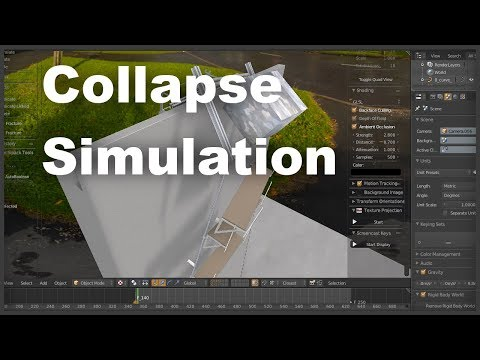 Structure collapse visualization in Blender