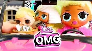 LOL Surprise Dolls Big Sister OMG Doll Back from College with Playmobil Sets & Unboxings