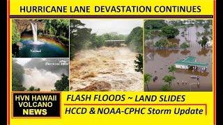 🔴 LIVE- NEW BREAKING NEWS  2pm NOAA Update HURRICANE LANE CRUSHES HAWAII