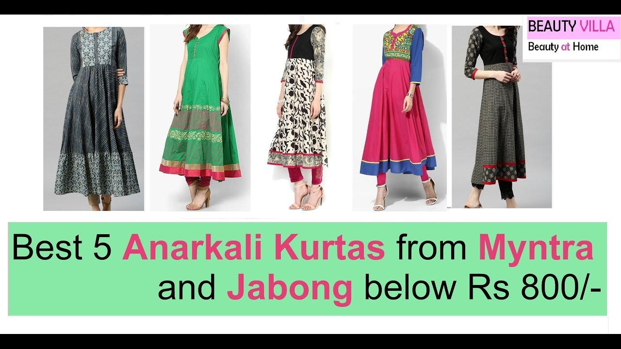 1b5a5f088bc Best 5 Anarkali Kurtas from Myntra and Jabong