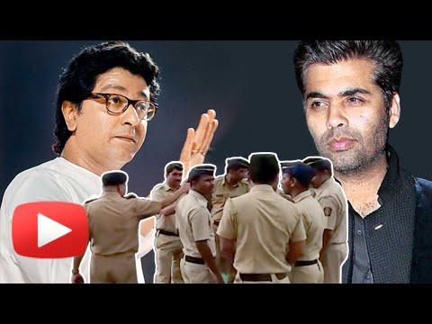 MNS Karan Johar Big Fight : Karan Beefs Up Security Outside His Office
