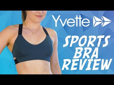 Sports Bra Haul & Review with Hannah! Yvette Sports Bras, Compression Bra for Workouts