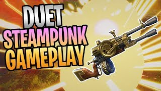 FORTNITE - New DUET Steampunk Assault Rifle Save The World Gameplay