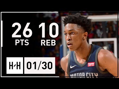 Stanley Johnson Full Highlights Pistons vs Cavaliers (2018.01.30) - 26 Pts, 10 Reb, SICK!