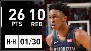Stanley Johnson Full Highlights Pistons vs Cavaliers (2018.01.30) - 26 Pts, 10 Reb, SICK!