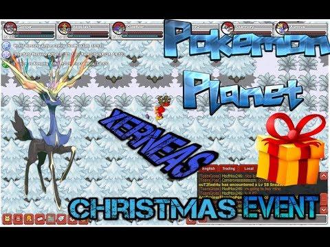 Pokemon Planet Christmas Event Xerneas Presents Part 1 Youtube