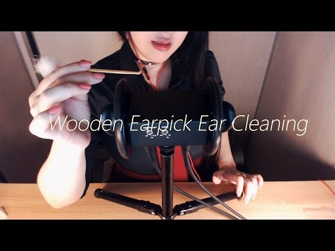 No Talking ASMR Realistic! Rough Ear Cleaning with Wooden Ear Pick, Ear Picking 1 Hour!