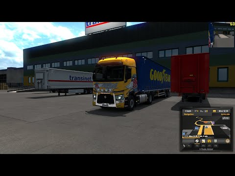 Euro Truck Simulator 2 (v1.36) | Furniture delivered from Turin to Toulouse