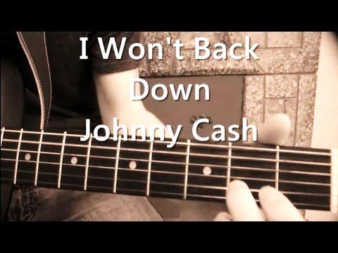 I Wont Back Down Johnny Cash Version Guitar Tutorial Youtube