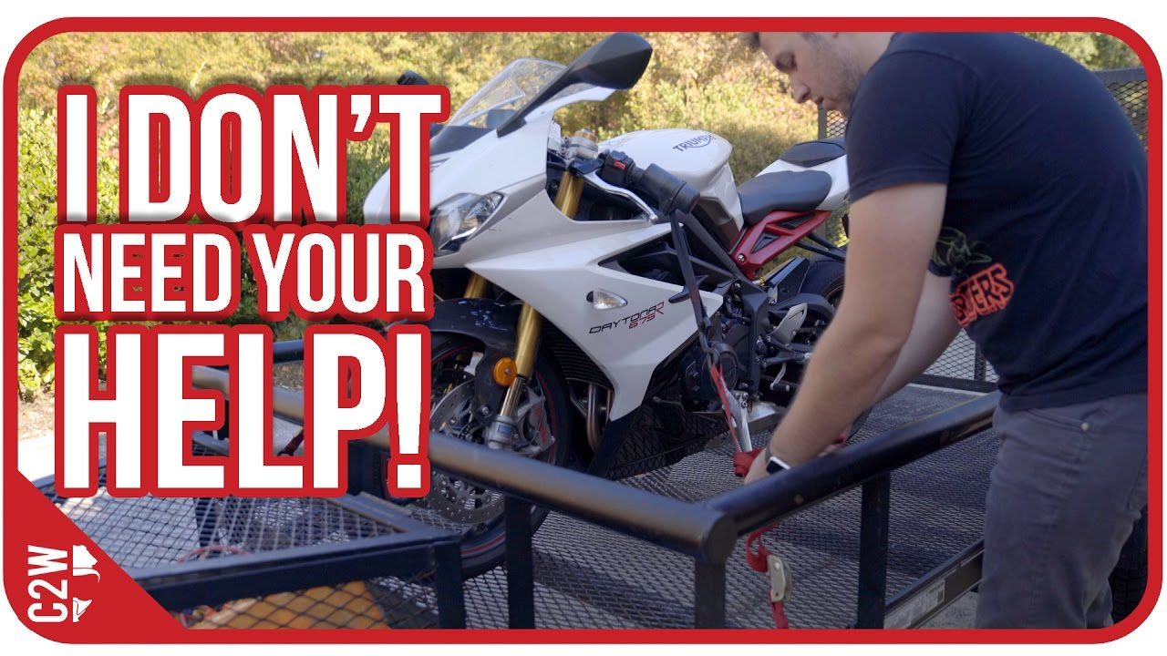 Loading A Motorcycle In A Trailer By Yourself Youtube