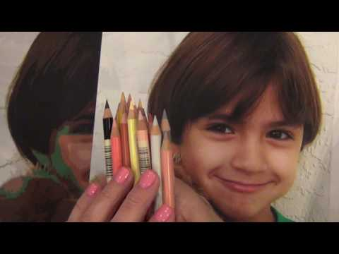 Supplies and Techniques needed to paint a colored pencils portrait