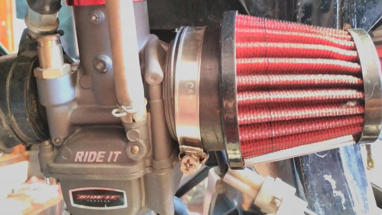 karburator PE 28+CDI BRT dual band+knalpot racing Byson