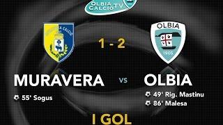 I gol dell'Olbia contro il Muravera