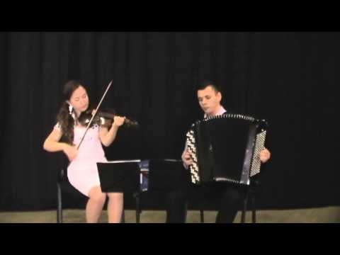 J. S. Bach. Minuet and Badinerie. Performed by Con Amore duo (Violin and Accordion)