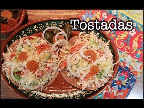 Tostadas De Pollo / Chicken Tostadas (How To)