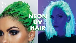 Download lagu NEON UV GREEN HAIR DYE TUTORIAL MP3