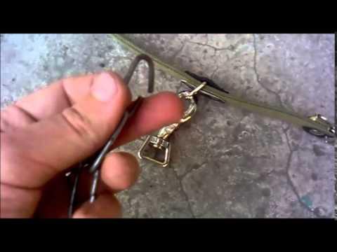 Как прикрепить ошейник к цепи