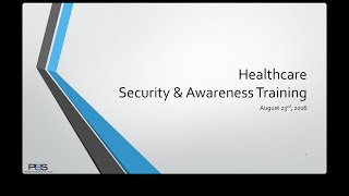 Healthcare Security Awareness & Training