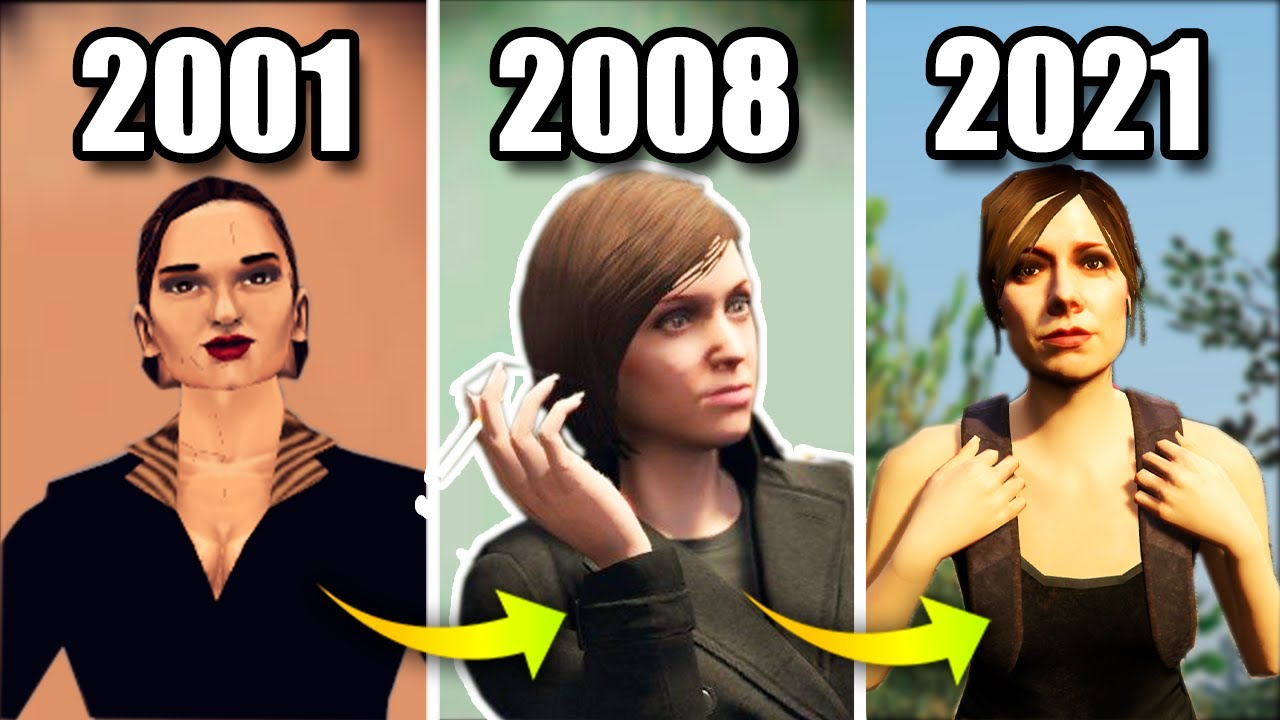 HOW GIRLFRIENDS have CHANGED GTA GAMES 2001-2019 (Evolution)