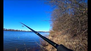 ДЖИГ с БЕРЕГА РЫБАЛКА на СПИННИНГ на ОКЕ Рыбалка в Марте 2020