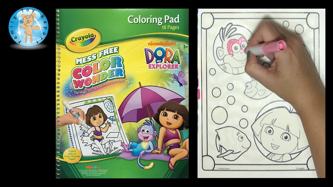 Crayola Color Wonder Nickelodeon Dora the Explorer Coloring Book ...