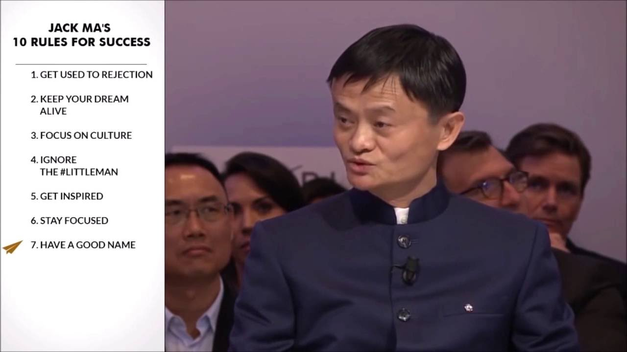 Jack Ma Top 10 Rules For Success Youtube
