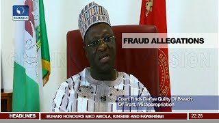 Court Jails Former Gov. Of Plateau State, Dariye For 14 Yrs Pt.2 |News@10| 12/06/18