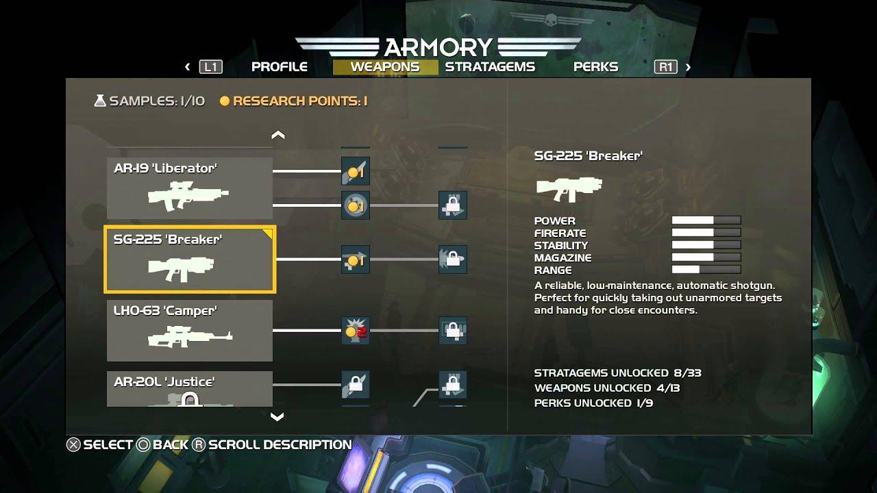 Helldivers - 1st Research Point & SG-225 Shotgun Unlocked Details ...
