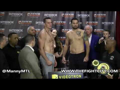 Weigh Ins For June 17 Eye of the Tiger Card