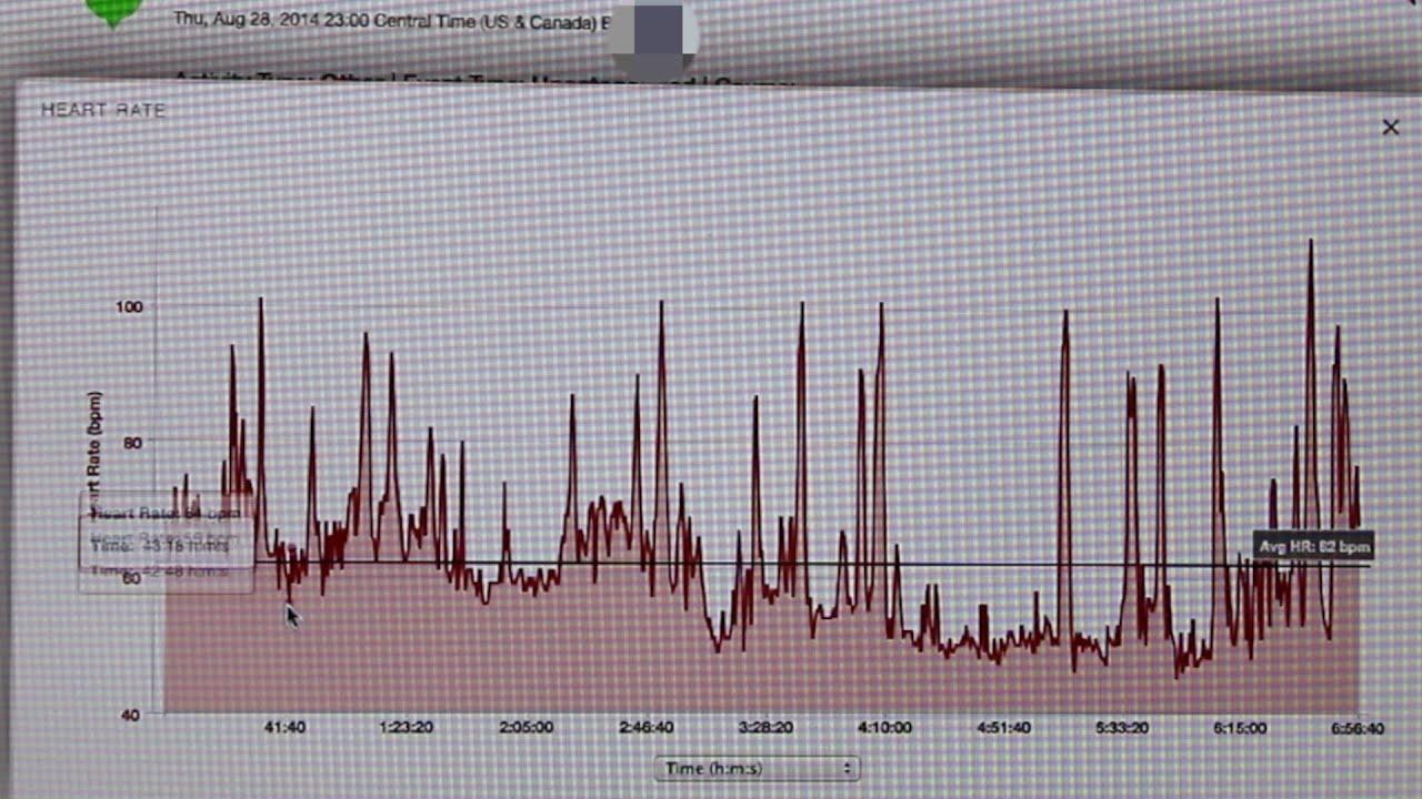 Garmin Vivofit Recording Heart Rate data during night sleep