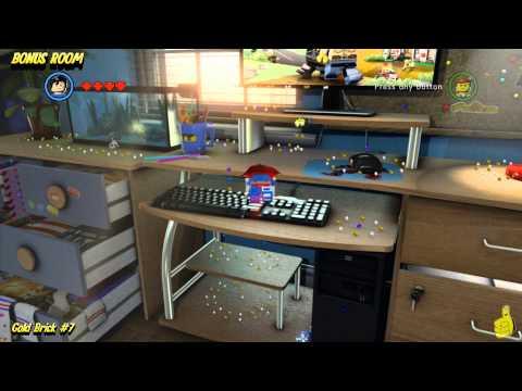 The Lego Movie Videogame: Bonus Room Gold Brick Locations (All 10 Bonus Room Gold Bricks) - HTG
